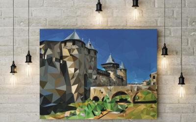 Cité de Carcassonne en Low Poly